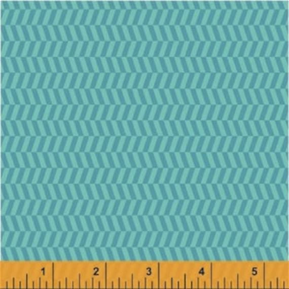 Uppercase by Janine Vangool for Windham Fabrics - Tweed in Turquoise - Fat Quarter