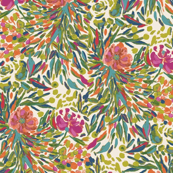 Bloomsbury by Bari J for Art Gallery Fabrics -  Fat Quarter of Writers Garden Panel