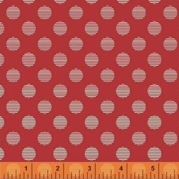 Hello Jane by Allison Harris for Windham Fabrics - Circles in Red- Fat Quarter