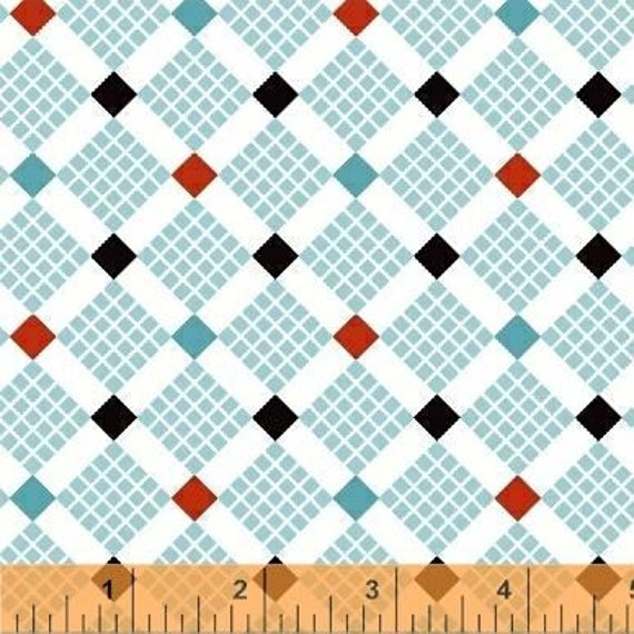 Uppercase Volume 2 by Janine Vangool for Windham Fabrics - Feed Sack in Turquoise - Fat Quarter