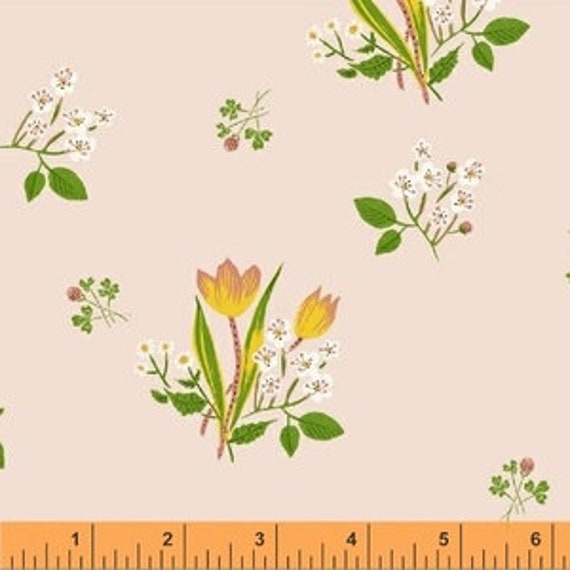 Heather Ross Kinder for Windham Fabrics - Fat Quarter Spring Blooms in Pink