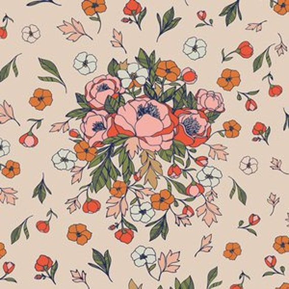 Love Story by Maureen Cracknell for Art Gallery Fabrics - Soulmate Blooms in Flirt