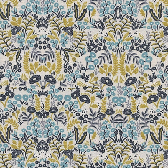 Menagerie -- Tapestry in Natural Metallic by Rifle Paper Company for Cotton and Steel