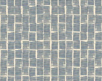 Heirloom Stripe Stamp in Blue (RS4029 15) by Alexia Marcelle Abegg for Ruby Star Society -- Fat Quarter