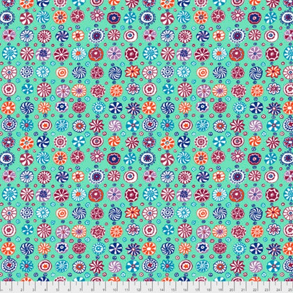 Kaffe Fassett Collective  -- Fat Quarter of Kaffe Fassett Fall 2017 Whirligig in Celadon