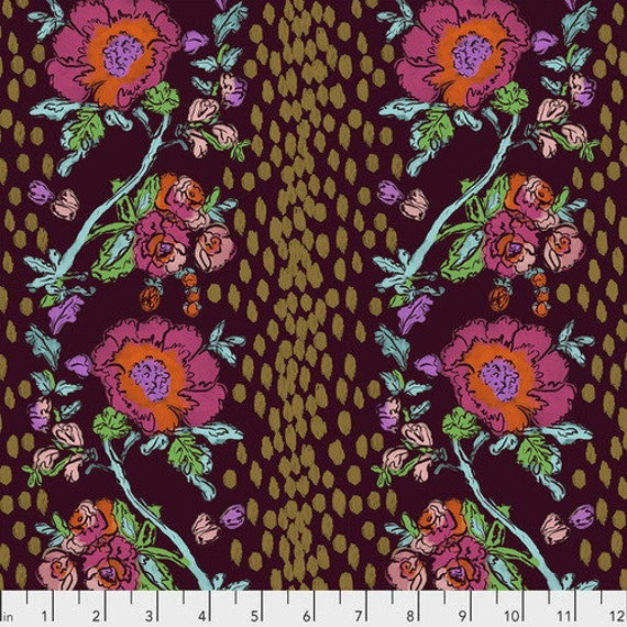 Flower Shop by Courtney Cerruti for Anna Maria Horner Conservatory 4 with Free Spirit Fabrics - Fat Quarter of Peony Path in Garden