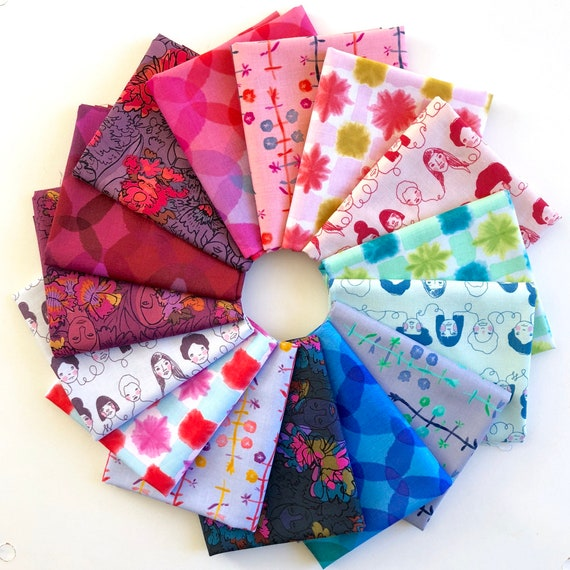 Fat Quarter Bundle of Long Distance by Courtney Cerruti Conservatory Fabrics Chapter 2 -- Anna Maria Horner for Free Spirit -- 15 in total