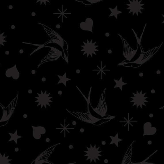 Fat Quarter Read Between the Fairy Flakes in Ink - Tula Pink's Linework for Free Spirit Fabrics