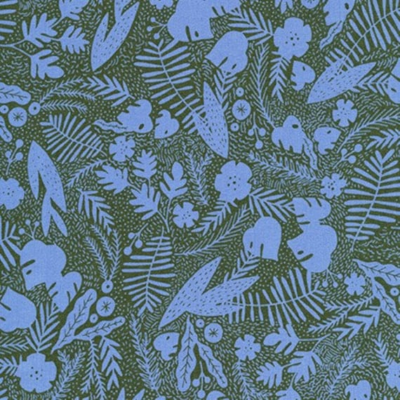 Robert Kaufman -   AIL-19560-71 LAGOON by Hello!Lucky from Wild and Free - Fat Quarter