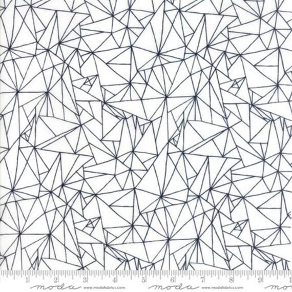 Moda Catnip Scratch in White (4823311) by Zen Chic -- Fat Quarter