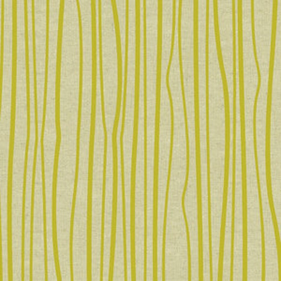 Diving Board by Alison Glass for Andover Fabrics - Seagrass Linen Blend in Chartreuse  - Fat Quarter
