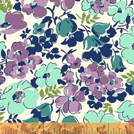 Hello Jane by Allison Harris for Windham Fabrics - Hello Jane in Lilac - Fat Quarter