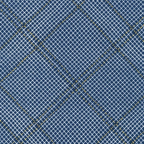 Collection CF by Carolyn Friedlander - Fat Quarter- AFRM-19932-9 NAVY
