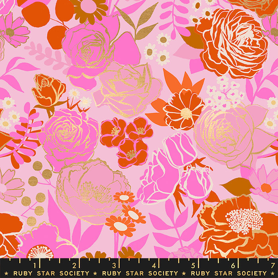 Rise Grow in Peony RS0012 12M by Melody Miller - Ruby Star Society - Fat Quarter