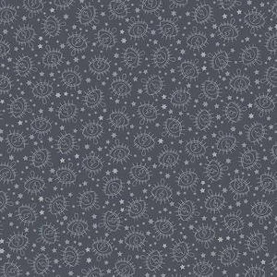 Wildside by Libs Elliot for Andover Fabrics - Electric Eye in Gunmetal Metallic - Fat Quarter