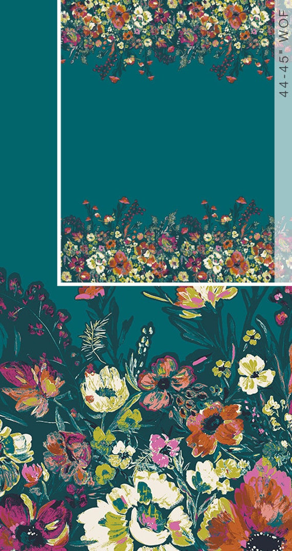 Bloomsbury by Bari J for Art Gallery Fabrics -  Fat Quarter of Roads to Flowerhouse PANEL