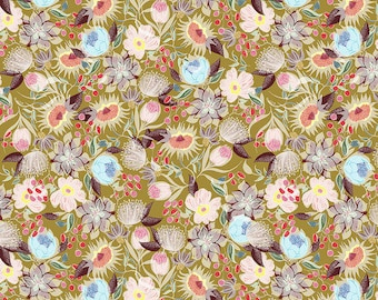 Shannon Newlin Vibrant Blooms -- Fat Quarter of Meadow in Warm