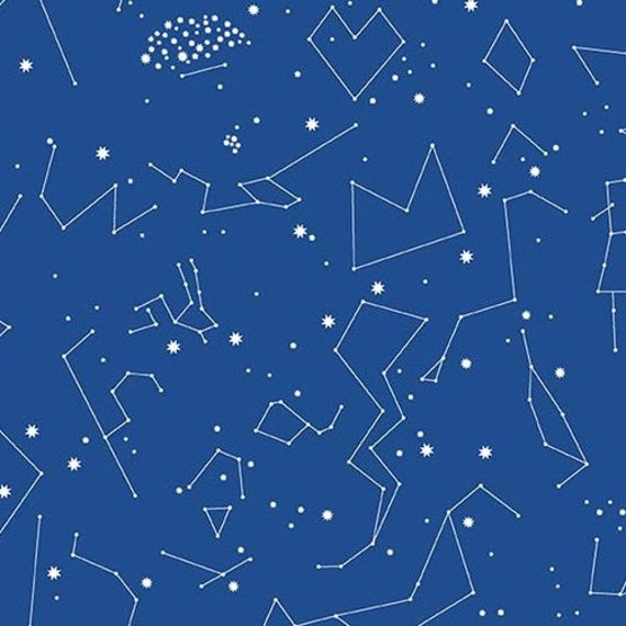 Andover Constellations 2019  by Lizzy House- Fat Quarter in Blue (A-8182-B2)