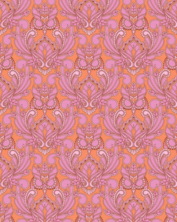 Fat Quarter Mini Owl in Bittersweet - Tula Pink's True Colors 2015 for Free Spirit Fabrics