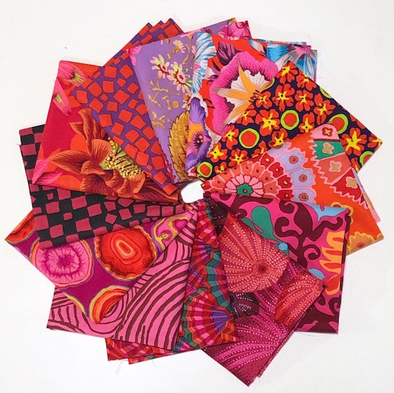 Reda by Kaffe Fassett Collective for Free Spirit Fabrics - Fat Quarter Bundle of 12