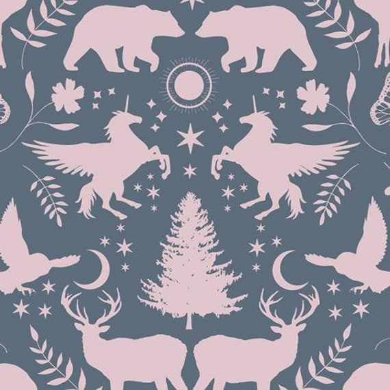Mystical Land by Maureen Cracknell for Art Gallery Fabrics - Mirror Lake in Rose