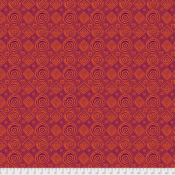 Spring 2018 Kaffe Fassett Collective  -- Fat Quarter of Good Vibrations in Purple