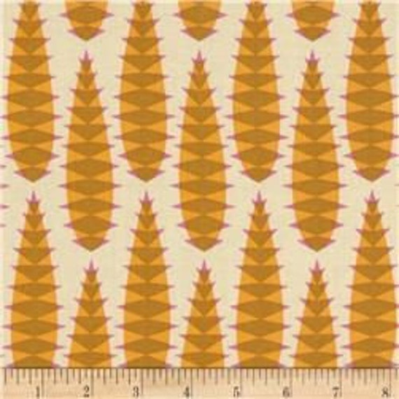 Pretty Potent by Anna Maria Horner for Free Spirit - Aloe Vera in Butterscotch - Fat Quarter