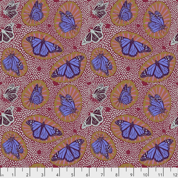 One Mile Radiant by Anna Maria Horner for Conservatory Chapter 3 with Free Spirit Fabrics- Fat Quarter of Monarch in Fruit