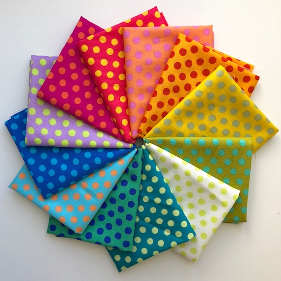 Kaffe Fassett -- 12 Fat Quarters of Spots