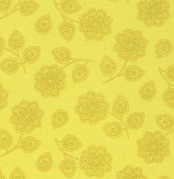 Fat Quarter Henna in Mustard - Tula Pink Eden