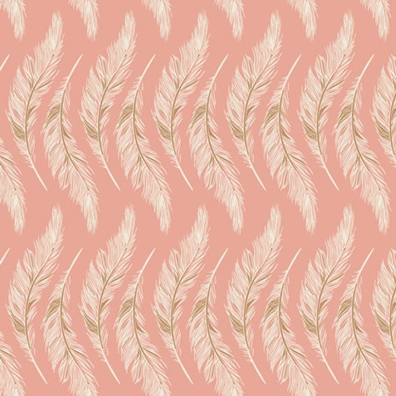 Homebody by Maureen Cracknell for Art Gallery Fabrics - Presently Plumes Rose