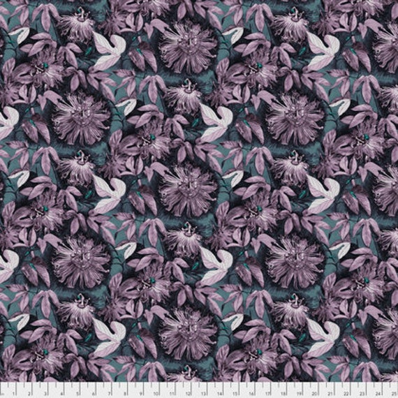 Passion Flower by Anna Horner for Free Spirit Fabrics - Passiflora in Heather
