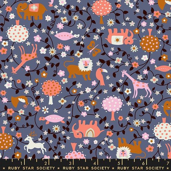 Liana-- Ruby Star Society Fabric, RS3009-12  Liana in Periwinkle by Kimberly Kight -- Fat Quarter