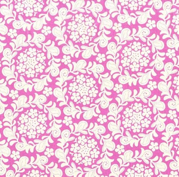 Strawberry Moon bySandi Henderson for Michael Miller - Petite Henna Garden in Berry - Fat Quarter