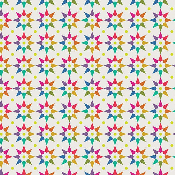 Art Theory by Alison Glass -- Fat quarter of Rainbow Star in Day