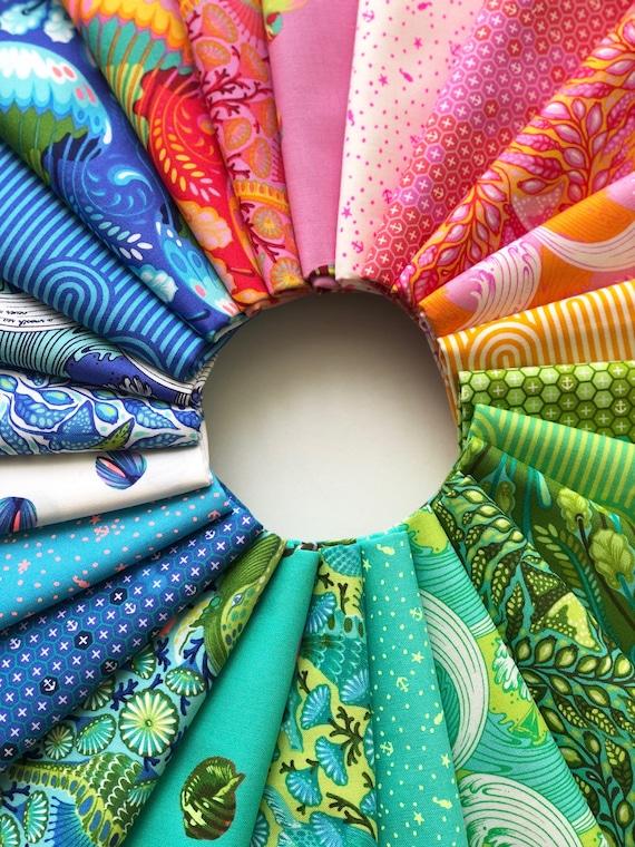Zuma Fat Quarter Bundle of 24 by Tula Pink for Free Spirit Fabrics
