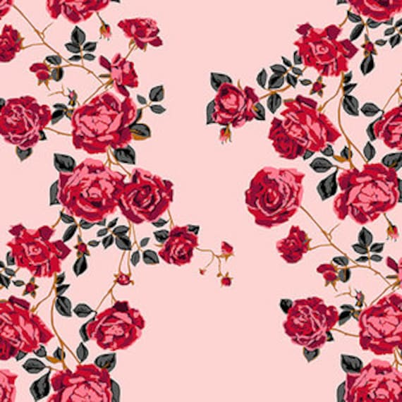 Floral Retrospective by Anna Horner for Free Spirit Fabrics - Social Climber in Perfume