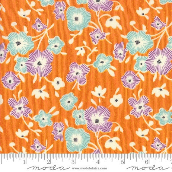 Moda Remix Begonia in Mango (1815514) by Jen Kingwell -- Fat Quarter