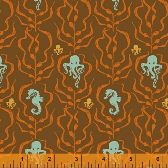 Heather Ross Mendocino for Windham Fabrics - Kelp Forest in Blue