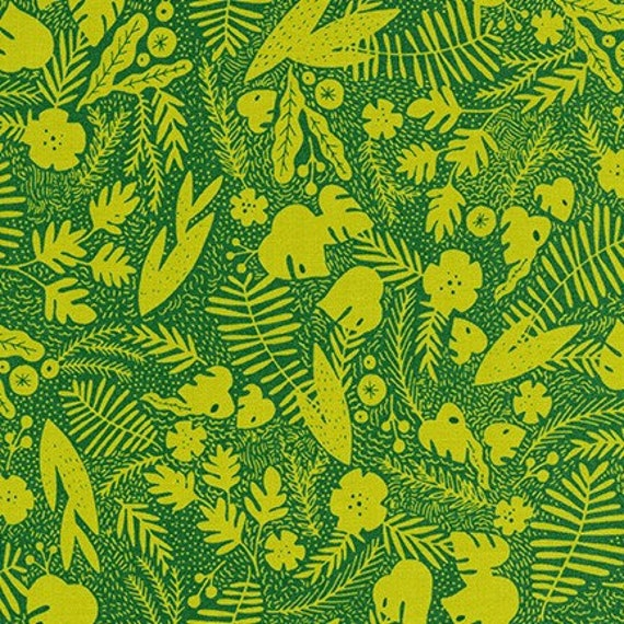 Robert Kaufman -   AIL-19560-30 FERN by Hello!Lucky from Wild and Free - Fat Quarter