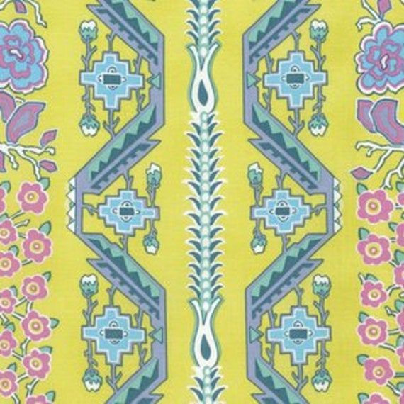 Amy Butler Splendor -- Fat Quarter of Native Folk in Moon Glow