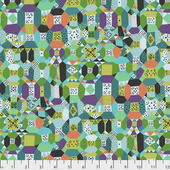 Endless Summer by Monika Forsberg for Anna Maria Horner's Conservatory Chapter 3 - Fat Quarter of Groove in Aqua