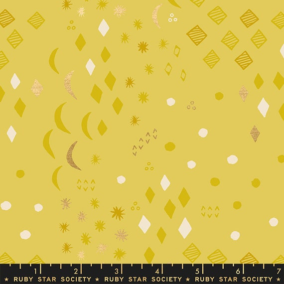 First Light Moonrise in Sunlight Metallic  (RS051-14M) by Ruby Star Society for Moda -- Fat Quarter