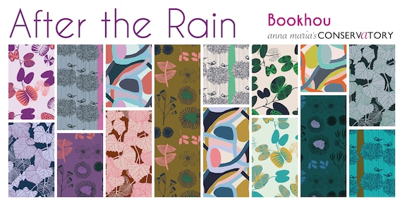 After the Rain Fat Quarter Bundle of Bookhou Fabrics for Anna Maria Horner's Conservatory Chapter 3 -- 15 in total