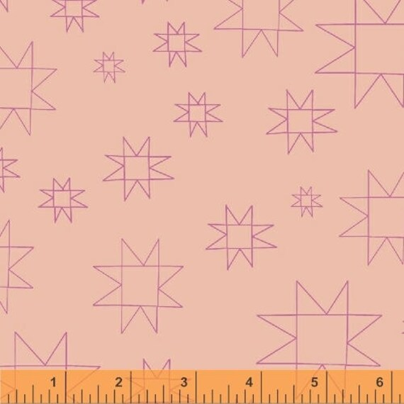 Daisy Chain by Annabel Wrigley for Windham Fabrics - Star in Peach