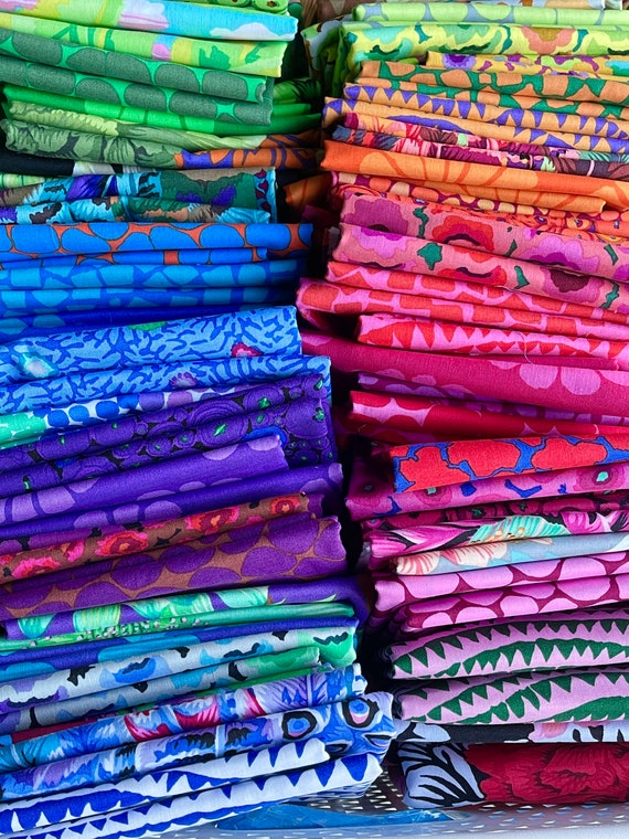 Fat 16th of various Kaffe Fassett Collective fabric from the February 2021 release (65 in total)