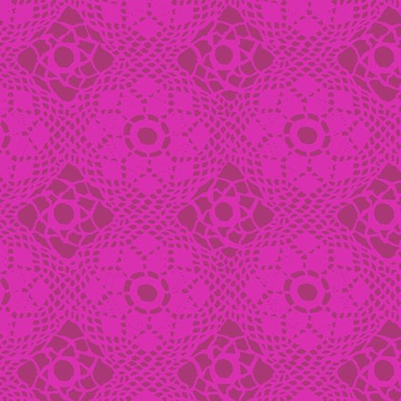 Handiwork by Alison Glass -- Fat quarter of Crochet in Plum
