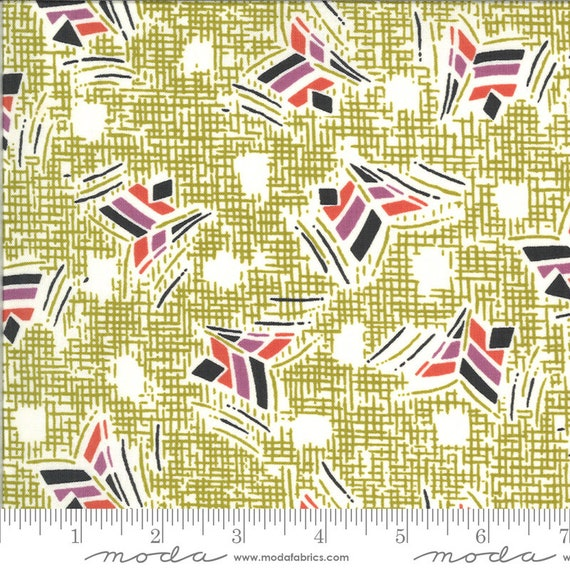 Moda Winkipop by Jen Kingwell -- Fat Quarter of 18192 16 Nara in Kelp