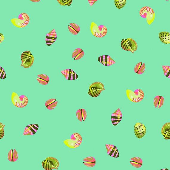 Fat Quarter Sea Shellss in Seaglass  - Tula Pink's Zuma for Free Spirit Fabrics