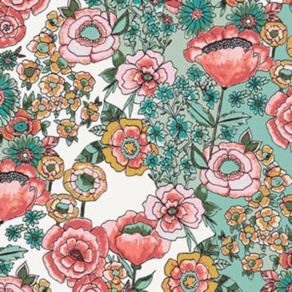 Wild Bloom by Bari J. Ackerman for Art Gallery Fabrics - Flower Shower in Subtle - Fat Quarter